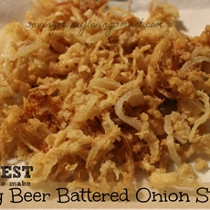 Crispy Beer Battered Onion Straws