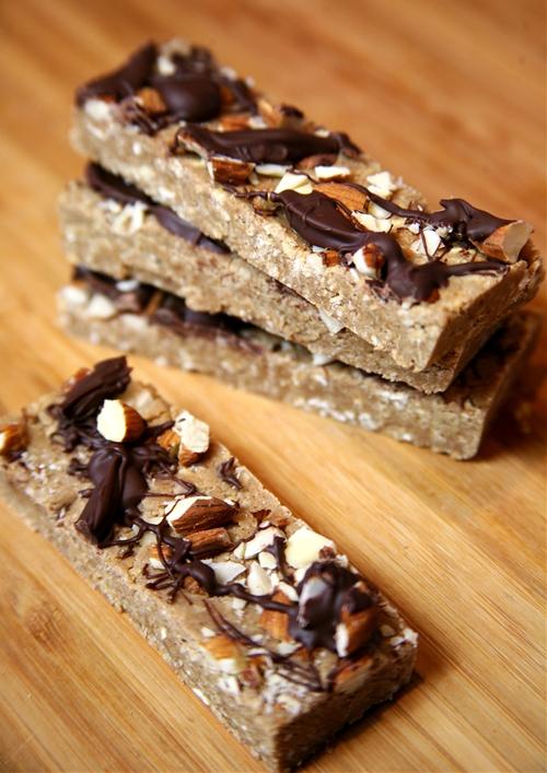Chocolate Almond Protein Bars