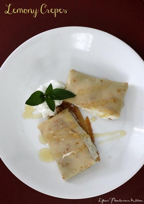 Crepes with Lemon Ricotta Cream