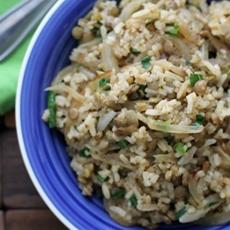Mujaddara: Lebanese Lentils and Rice