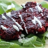 Curried Beet and Sweet Potato Fritters