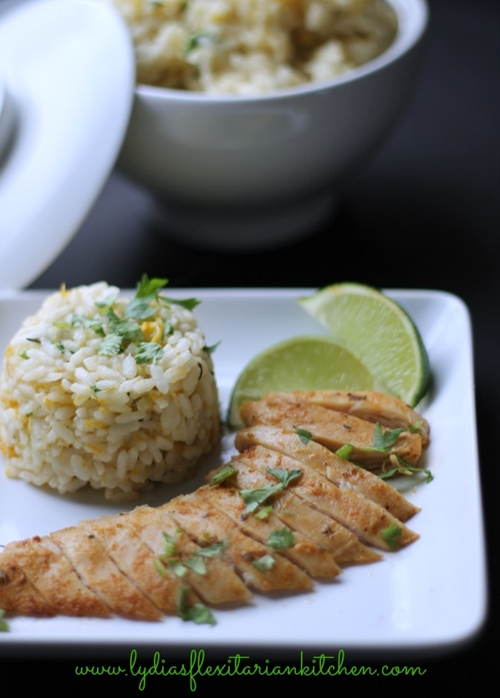 Tropical Chicken with Coconut Mango Rice