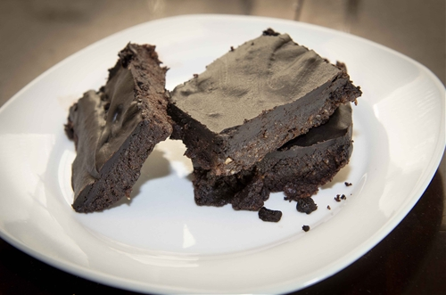 No bake frosted brownies