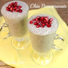 chia pomegranate pudding - my real food family