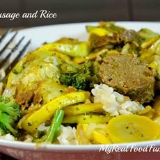 tofu sausage and rice - my real food family