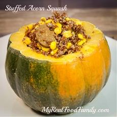 stuffed acorn squash - my real food family |