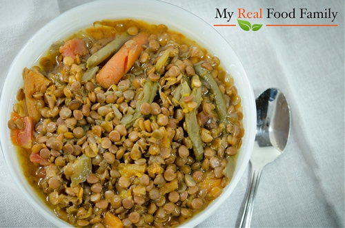 Crock pot lentil sweet potato soup