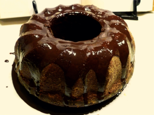 Chocolate velvet bundt cake