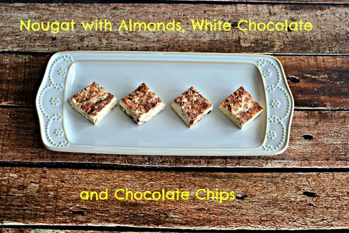 Nougat with Almonds, White Chocolate, and Chocolate Chips: Daring Bake