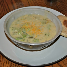 Broccoli and Cheese Potato Soup (lightened up)
