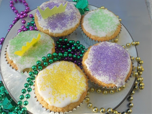 King Cupcakes for Mardi Gras