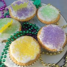 King Cupcakes for Mardi Gras