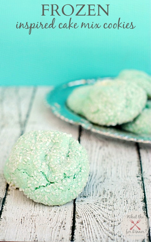 Frozen Inspired Cake Mix Cookies