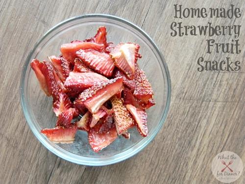 Homemade Strawberry Fruit Snacks