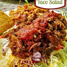 Salsa Beef Taco Salad
