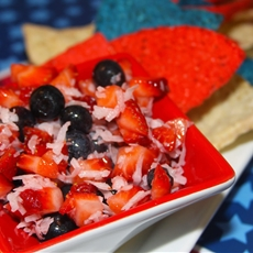 Red, White, and Blue Freedom Fruit Salsa