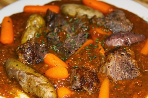 Slow Roasted Pot Roast with Veggie and Beef Gravy