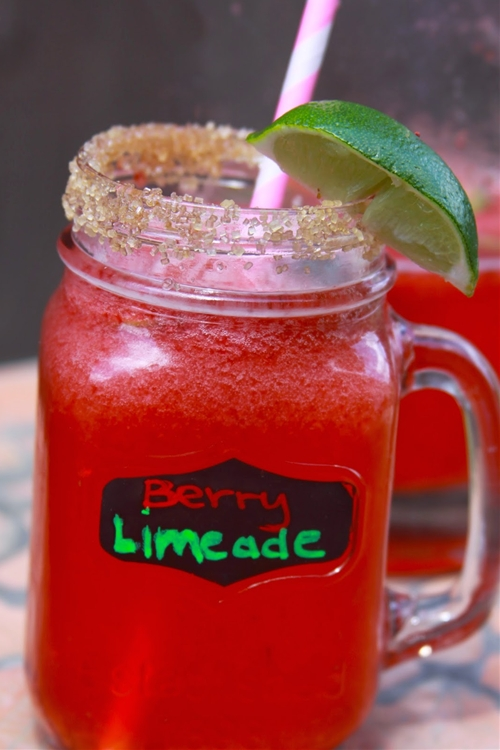 Refreshing Strawberry Limeade
