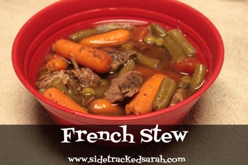 French Stew (freezer to crockpot)
