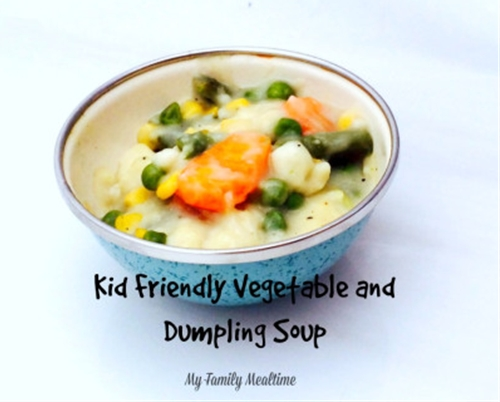 Kid Friendly Vegetable and Dumpling Soup Recipe