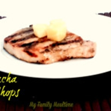 Pineapple Sriacha Grilled Pork Chop