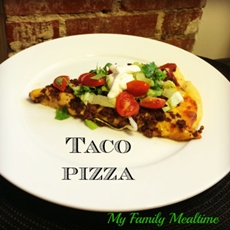 Taco Pizza with Cornmeal Crust