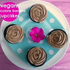 Vegan Chocolate Banana Cupcakes