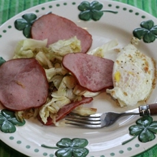 Bacon and Cabbage - YUM eating