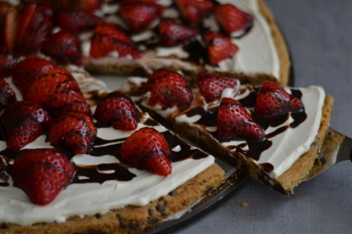 Strawberries & Cream Chocolate Chip Cookie
