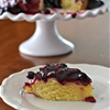 Lemon Polenta Cake with Blueberry Sauce