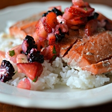 Grilled Salmon with Spring Salsa