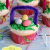 Easy Easter Basket Cupcakes