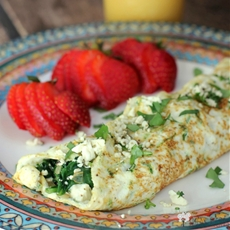 Spinach, Feta, and Herb Egg White Omelet
