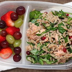 healthy week: lunches 7 {orzo power salad with sal