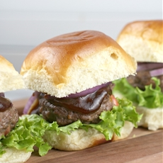 Port Cheddar Stuffed BBQ Sliders