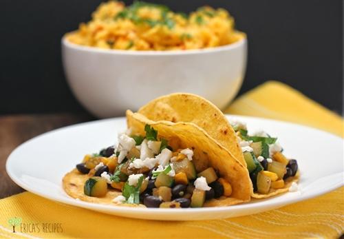 Zucchini, Black Bean, and Corn Tacos
