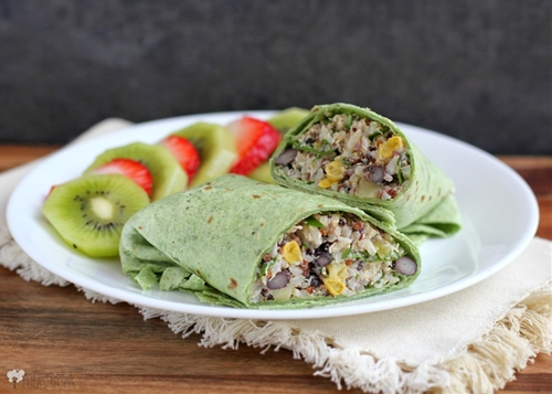 Lunches 9 {Sweet Summer Quinoa and Black Bean Power Wraps}