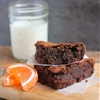 Blood orange and dark chocolate brownies
