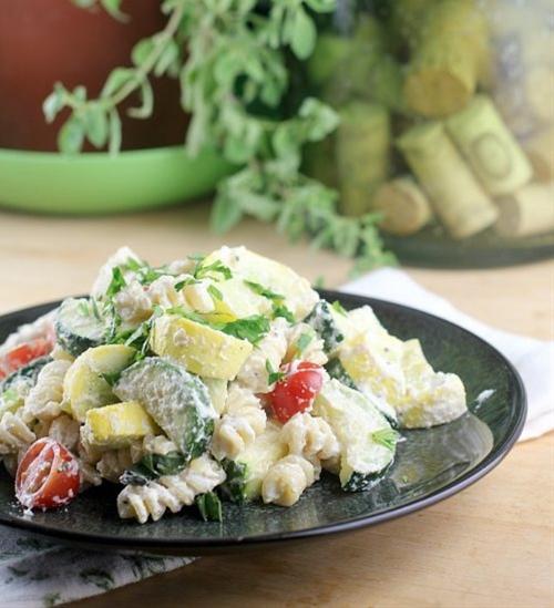 Creamy Vegan Vegetable Primavera