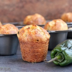 Poblano Pepper and Pepperjack Popovers