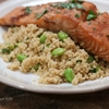 Honey-Soy Salmon over Edamame Couscous