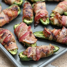 BBQ Sausage-Stuffed Grilled Jalapenos