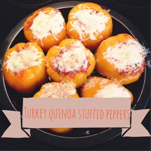 Low Calorie Turkey Quinoa Stuffed Peppers