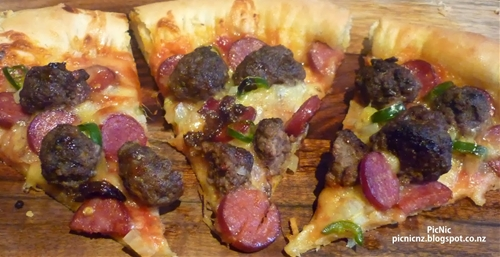 Beef, Chorizo, and Jalapeno Pizza