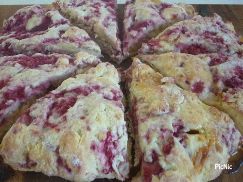 Raspberry White Chocolate Buttermilk Scones