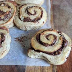 Chocolate and Nut Scrolls