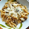 Caramelized Onion and Portabella Pasta