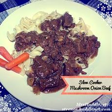 Slow Cooker Mushroom Onion Beef