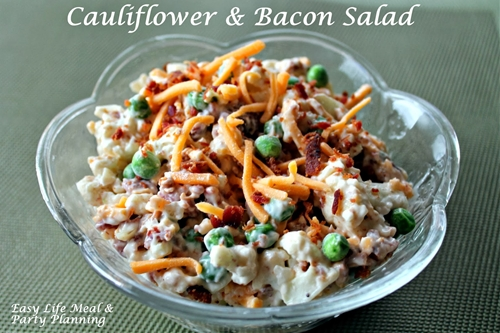 Easy Cauliflower & Bacon Salad