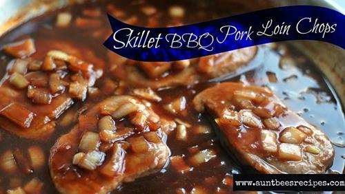 Skillet BBQ Pork Loin Chops